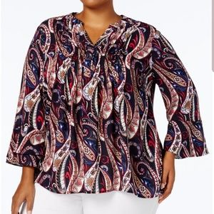 NEW CHARTER CLUB PLUS SIZE 2X PAISLEY FALL 🍂🍁TOP